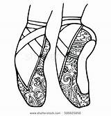 Coloring Ballet Pages Shoes Dance Pointe Ballerina Shoe Tap Drawing Slippers Printable Nike Jazz Drawings Nutcracker Drawin Adult Sheets Irish sketch template