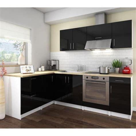 cuisine cosy cosy cuisine complète coloris laqué noir 280 cm achat