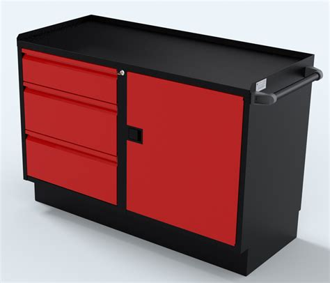 48 inch base cabinet red 48 inch 1 door 3 drawer industrial base cabinet