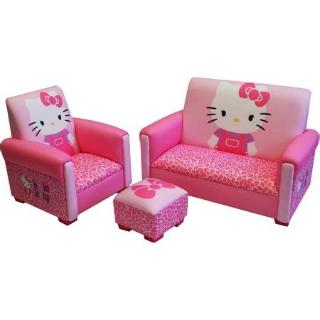 Hello Bedroom Set At Walmart by Hello Bows Toddler 3 Sofa Chair And Ottoman