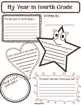 end of the year reflection worksheet free by