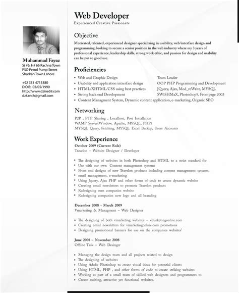 resume formats for software professionals resume
