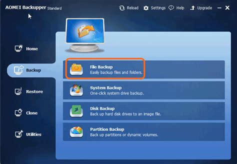 Best Free Backup Utility Best Free File Backup Software Aomei Backupper Standard