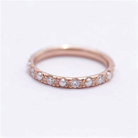 17 best ideas about pearl wedding bands on pinterest