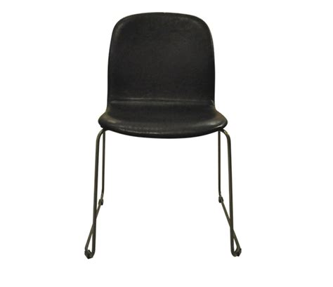 clove leather dining chair black color