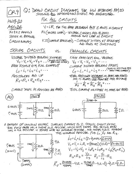 worksheet. Parallel And Series Circuits Worksheet