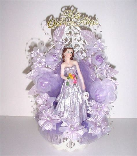 quinceanera cake toppers mis quince anos quinceanera lavendar cake topper ooak