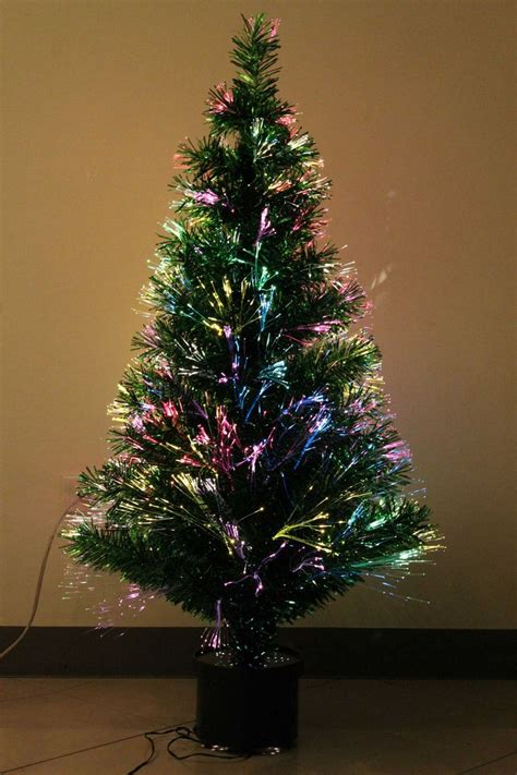 catchy collections of blue fiber optic christmas tree