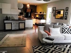 decoration cuisine ouverte salon With deco cuisine pour table salon