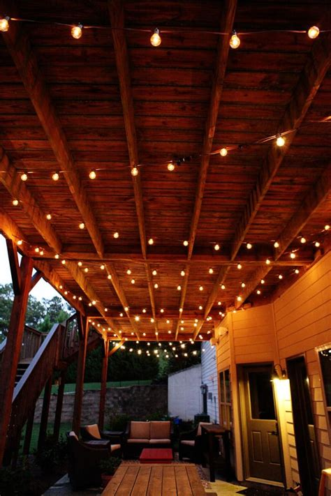 swag chainlink bower power outdoor patio lights apartment patio patio lighting