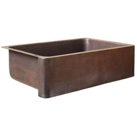 Home Depot Copper Farmhouse Sink sinkology farmhouse apron front handmade solid