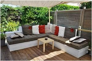 Salon De Jardin En Palette Moderne : 15 id es pour am nager un coin salon ext rieur confortable ~ Melissatoandfro.com Idées de Décoration
