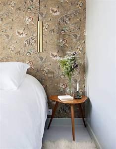 tendance papier peint pour chambre adulte tendance papier With chambre bébé design avec bouquet de fleurs lyon
