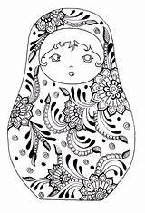 Coloring Russian Dolls Adults Doll Matryoshka Adult Sheets Printable Nesting Russia Colouring Babushka Line Tattoo Children Coloriage Justcolor Mandala Template sketch template