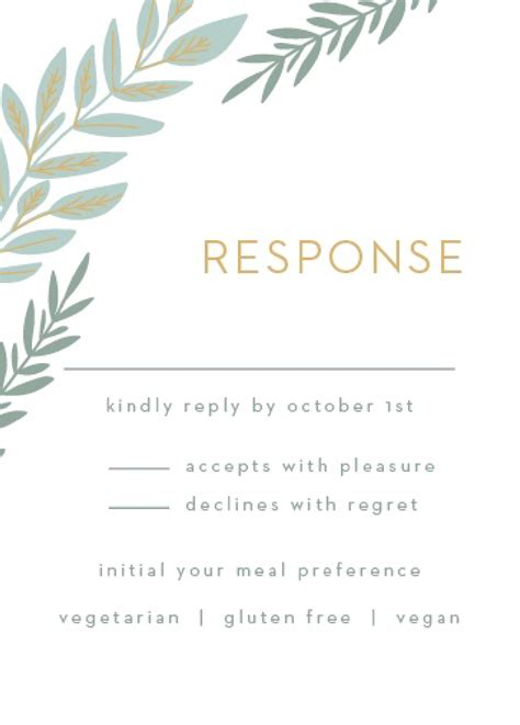 Maybe you would like to learn more about one of these? Response Card Wording