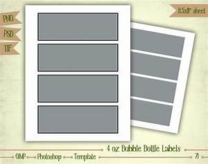 4 oz bubble bottle labels digital collage sheet layered for Bubble bottle label template