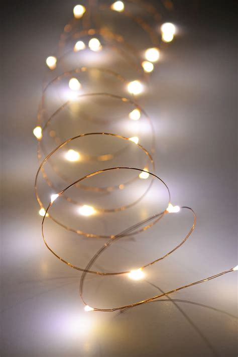 copper wire fairy lights  ft outdoor battery operated