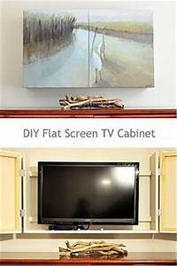 hide your tv home diy at its best pinterest tvs With what kind of paint to use on kitchen cabinets for love birds canvas wall art