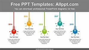 Flashing Light Bulbs Powerpoint Diagram Template Flashing