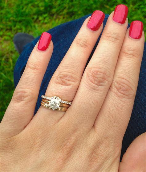 stacking rings   wear  thin diamond eternity ring