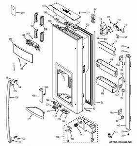 Assembly View For Dispenser Door