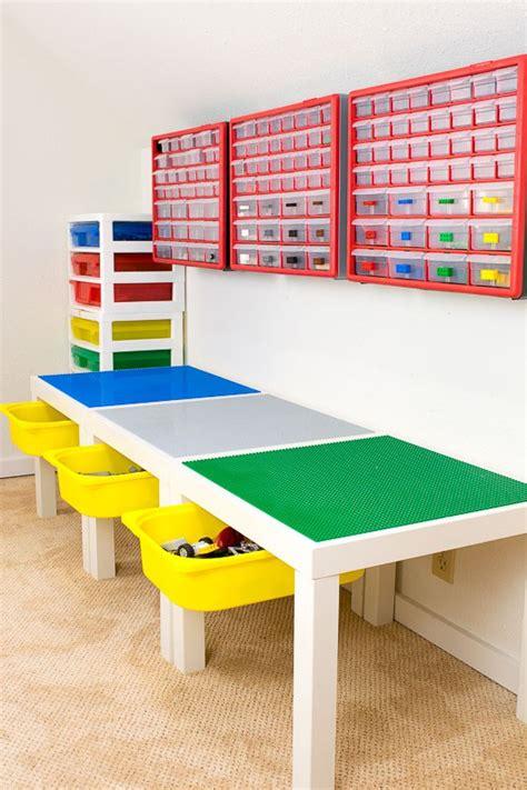 table de jeu lego avec  tiroir de rangement