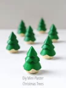 diy mini plaster christmas tree decorations gathering beauty