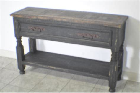 distressed black console table lyon rustic pine black distressed console table ebay