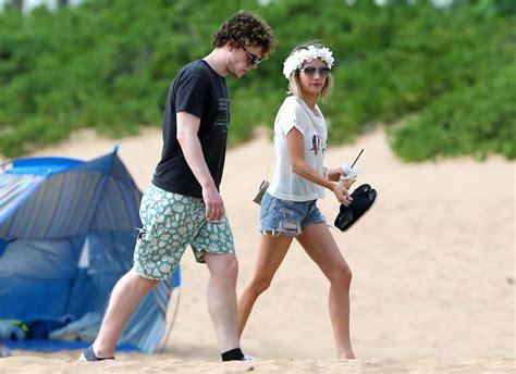 Emma Roberts in a Bikini Top at a Beach in Maui - June ...