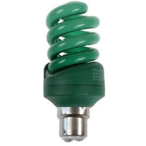 green light bulbs green coloured 15 watt bc b22mm energy saving light bulb
