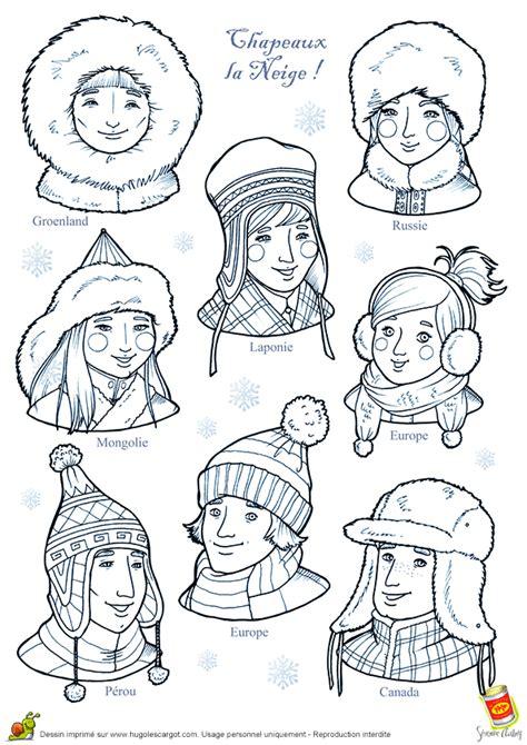 recette de cuisine russe coloriage les chapeaux neige sur hugolescargot com