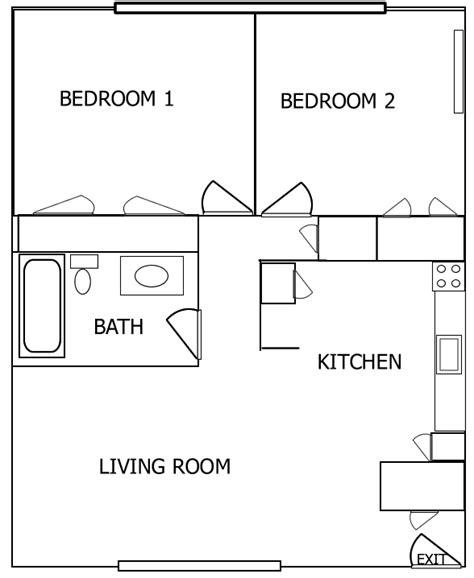 2 bedroom floorplans 2 bedroom apartment floor plan