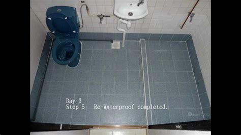waterproofing bathtoilet floor singapore hdb flat
