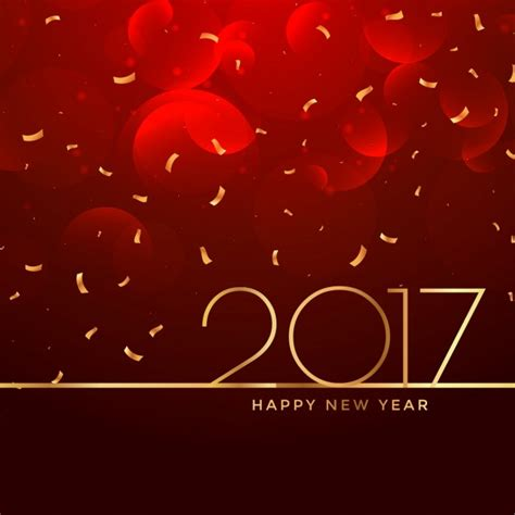 2017 new year celebration background in color vector