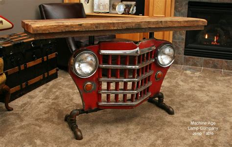 cj tables and industrial antique jeep cj military willys grill table or