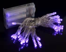 30 LED Purple Mini String Lights, 10.8 FT Clear Cord, Battery Operated