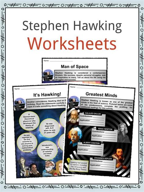 stephen hawking biography worksheet stephen hawking facts worksheets biography discoveries