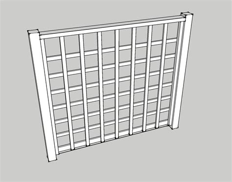 How To Build A Lattice How To Build Lattice Fence Panels Plans Free