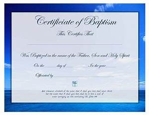 free printable baptism certificate template forms With baby christening certificate template