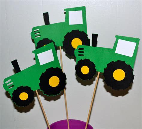 John Deere Green Tractor Farm Themed Birthday Party Table