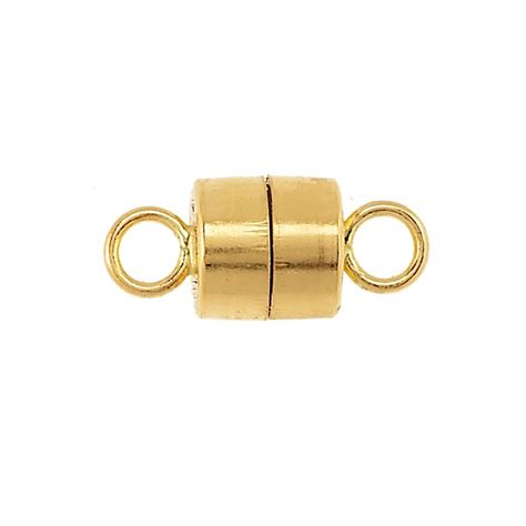 14K Yellow Gold Barrel Magnetic Clasp