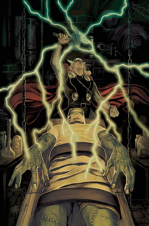 thor hammers frankenstein jaws in marvel s hollywood