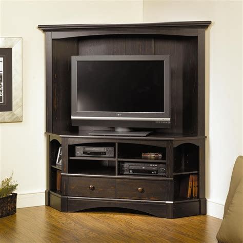 tv hutch corner tv entertainment center with hutch woodworking projects plans
