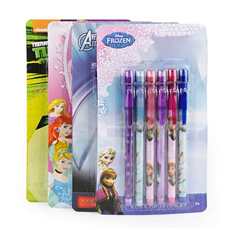 big lots pencil licensed character pop up pencils 6 pack big lots