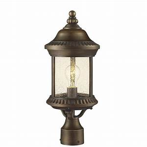 Hampton bay cambridge light outdoor essex bronze post
