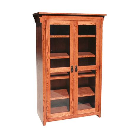 Oak Bookcases With Glass Doors by Mission Oak Bookcase With Glass Doors Oak For Less 174