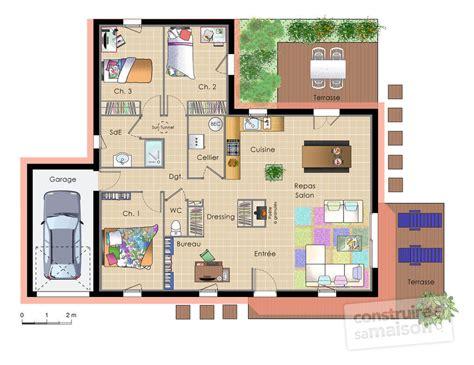 appartement 4 chambres maison moderne modulable dé du plan de maison