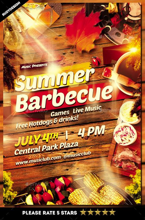 barbecue party flyer design  rudydesign graphicriver