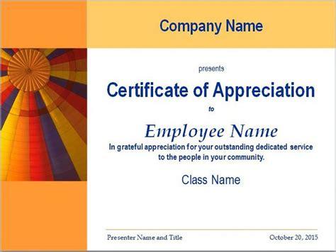 certificate  appreciation templates  letters