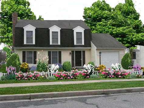 50+ Front Yard Landscaping Ideas (with Gallery)  Decoration Y. Media Room Furniture. Open Garage. Black Table Lamp. Beige Subway Tile. Garage Sconces. Mid Century Fabric. 12 Foot Farm Table. 4x8 Subway Tile
